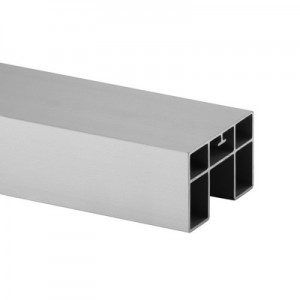 Q-Railing - Cap rail, rectangular, 65x40x1.5mm, L=5000 mm, U=24 mm x 24 mm, aluminium, raw