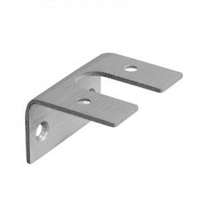 Q-Railing - Adapter for glass frame profile, Easy Alu,brushed aluminium, anodized 25 micrometre [PK4]