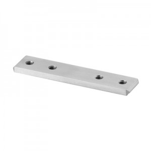 Q-Railing - Tube connector, cap rail, 33x39x4.5 mm, aluminium, raw [PK2]- [16679033900]