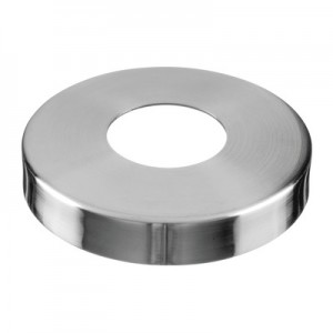 Q-Railing - Cover cap for welding flange MOD 0940, tube Dia 42.4 mm, Dia 105 mm, stainless steel 304 interior, satin [PK2]
