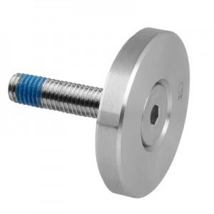 Q-Railing - Clamping disc for MOD 0741, Dia 50 mm, flat, incl. screw DIN7991, M10x50mm, st. steel 316 exterior, sat. [PK2]