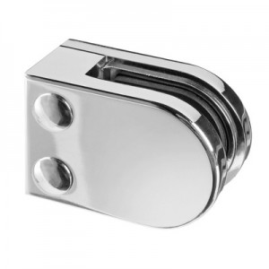 Q-Railing - Glass clamp, MOD 22, excl. rubber inlay, flat, zamak, chrome plated [PK4]