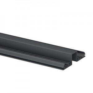 Q-Railing - Glass frame profile, Easy Alu, top, 67x19 mm,L=5000 mm, aluminium, anthracite grey RAL 7016