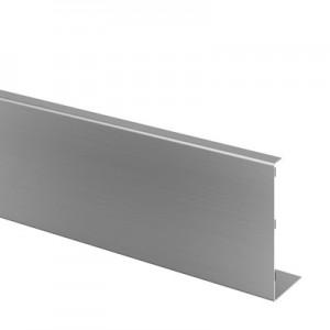 Q-Railing - Cladding, Easy Glass Pro Inverse, fascia mount, outside, L=5000 mm, alu, st. steel effect, anod.