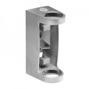 Q-Railing - Baluster bracket, MOD 0557, fascia mount, tube Dia 42.4 mm, stainless steel 304 interior, satin - [13055704212]