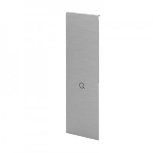 Q-Railing - End cap, Easy Glass Prime, for staircase,fascia mount, right, brushed aluminium, anodized