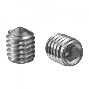 Q-Railing - Grub screw with internal hexagon, pointed, QS-93, M5 x 6 mm, DIN 914/ISO 4027, A4-70, Real-Loc - [PK Qty 50]- [95049050614] 240490-506