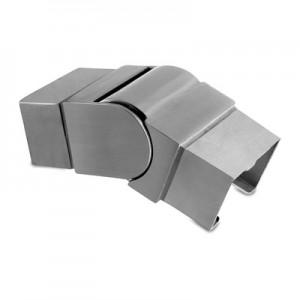 Q-Railing - Adjustable flush angle, (25 degree-55 degree), downwards, cap rail, 60x40x1.5 mm, stainless steel 304 interior, satin [PK2]- [13630264012]