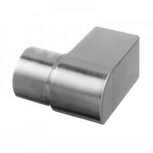 Q-Railing - Wall flange, 90 degree, for cap rail, MOD 6508, Dia 48.3 mm, stainless steel 316 exterior, satin [PK2]