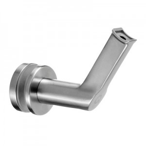 Q-Railing - Handrail bracket for glass, handrail Dia 48.3 mm, stainless steel 304 interior, satin [PK2]