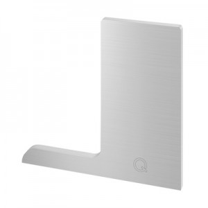 Q-Railing - End cap, Easy Glass Pro F, top mount, left, aluminium, stainless steel effect, anodized