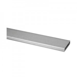 Q-Railing - Rectangular tube, 40x10x1.5 mm, L=2500 mm, stainless steel 304 interior, satin
