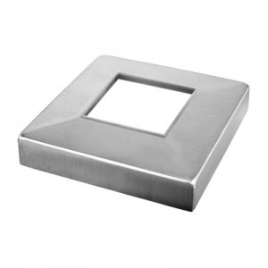 Q-Railing - Cover cap, Square Line, tube 40x40x2 mm, 93x93x22 mm, stainless steel 304 interior, satin [PK2]