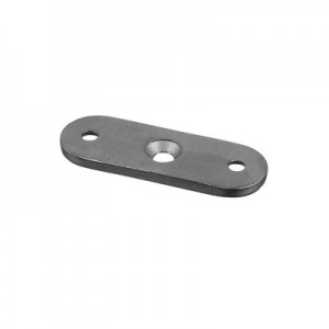Q-Railing - Handrail connecting plate, hole distance 45 mm, handrail flat, stainless steel 316 exterior, satin [PK8]