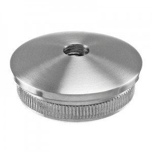 Q-Railing - Arched end cap, Easy Hit, M10 thread, tube Dia 42.4 mm x 2 mm, stainless steel 304 interior, satin [PK2]
