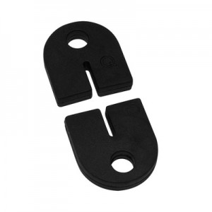 Q-Railing - Rubber inlay for clamp MOD 28, for 2 mm plate [PK8]