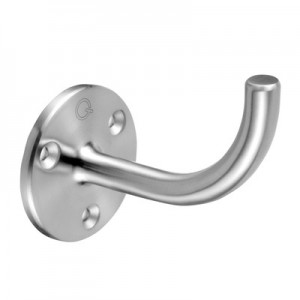 Q-Railing - Handrail bracket for wall, wall distance=85 mm, handrail to weld, stainless steel 304 interior, satin [PK2]