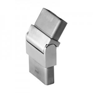 Q-Railing - Adjustable flush angle, Square Line, (0 degree-70 degree), tube 60x20x2 mm, stainless steel 316 exterior, satin [PK2]