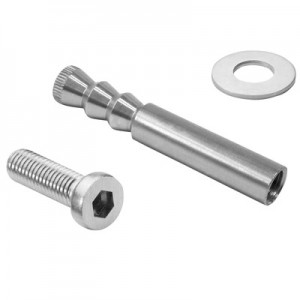 Q-Railing - Inside thread anchor, Q VMZ-IG 90 M12, QS-557, incl. screw & washer, stainless steel 316