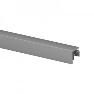Q-Railing - Trim, Easy Glass Smart, top mount,3 mm, L=5000 mm, aluminium, mill finish