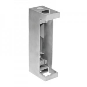 Q-Railing - Baluster bracket, Square Line, MOD 4558, fascia mount, tube 40x40 mm, st. steel 304 interior, satin - [13455804012]