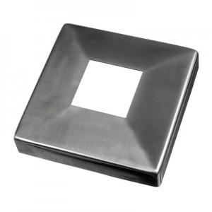 Q-Railing - Cover cap for welding flange MOD 4940, tube 40x40 mm, stainless steel 316 exterior, satin [PK2]