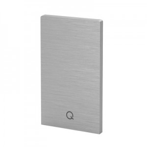 Q-Railing - End cap, Easy Glass Prime, top mount,left & right, brushed aluminium, anodized