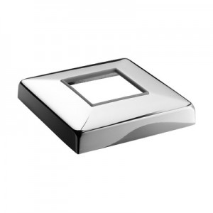 Q-Railing - Cover cap for base glass clamp MOD 62, stainless steel 316 exterior, polished [PK2]