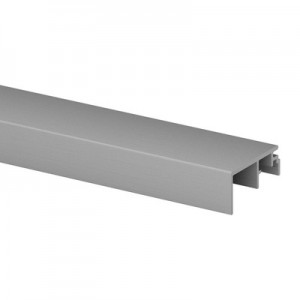 Q-Railing - Trim, Easy Glass Prime, fascia mount,20 mm, L=5000 mm, brushed aluminium, anodized