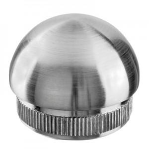 Q-Railing - Domed end cap, Easy Hit, tube Dia 48.3 mm x 2 mm, stainless steel 304 interior, satin [PK2]- [13573024812]