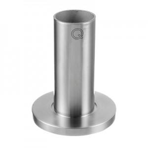 Q-Railing - Base flange for tube, tube Dia 42.4 mm x 2 mm, stainless steel 304 interior, satin [PK2]