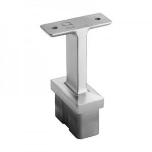 Q-Railing - Straight saddle, Square Line, 60x30x2.6 mm, handrail flat, stainless steel 316 exterior, satin [PK2]
