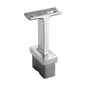 Q-Railing - Straight saddle, Square Line, 60x30x2.6 mm, handrail Dia 42.4 mm, stainless steel 316 exterior, satin [PK2]