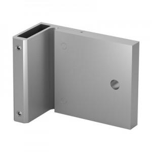 Q-Railing - Corner bracket for post profile, Easy Alu,fascia mount, 120x70 mm, aluminium, mill finish