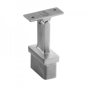Q-Railing - Adjustable saddle, Square Line, 60x30x2.6 mm, handrail flat, stainless steel 316 exterior, satin [PK2]