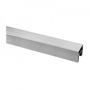 Q-Railing - Cap rail, square, 40x40x1.5 mm, L=2500 mm, U=24 mm x 24 mm, stainless steel 316 exterior, satin