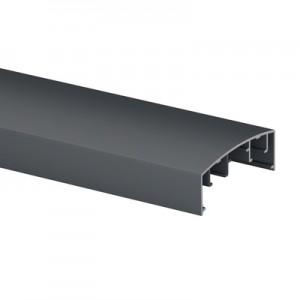 Q-Railing - Handrail profile, Easy Alu, 70x26 mm, to click in,L=5000 mm, aluminium, anthracite grey RAL 7016