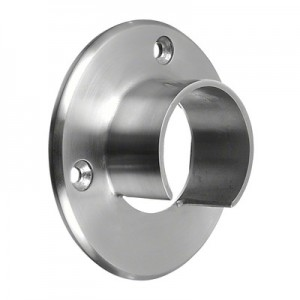Q-Railing - Wall flange for cap rail, Dia 48.3 mm, stainless steel 304 interior, satin [PK2]