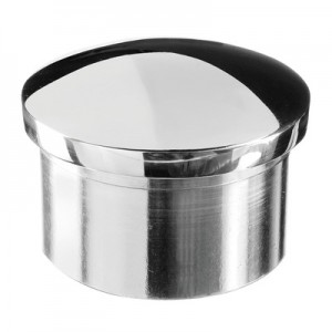 Q-Railing - Arched end cap, tube Dia 42.4 mm x 2 mm, stainl. steel 304 interior, polished [PK2]