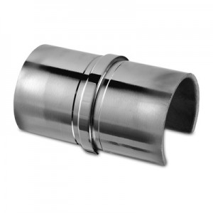 Q-Railing - Tube connector, cap rail, Dia 42.4x1.5 mm, st. steel 316 exterior, polished [PK2]- [14679004210]