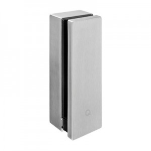 Q-Railing - Glass adapter with base plate, square, 12 - 21.52 mm glass, stainless steel 304 interior, satin MOD 0763