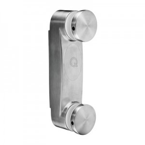 Q-Railing - Glass adapter with base plate, angle adjustable, 8 - 17.52 mm glass, stainless steel 304 interior, satin MOD 0766