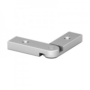 Q-Railing - Handrail connector, Easy Alu, adjustable (0 degree-90 degree),horizontal, aluminium, mill finish [PK2]