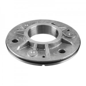 Q-Railing - Welding flange, with rubber ring, tube Dia 48.3 mm, round, 115 mm, stainless steel 316 exterior, untreated [PK2]