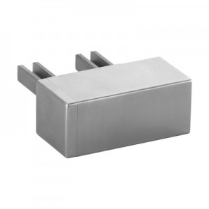 Q-Railing - Wall flange, 90 degree, for cap rail, rectangular, MOD 6508, 65x40 mm, stainless steel 316 exterior, satin [PK2]