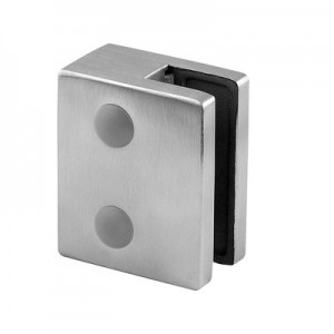 Q-Railing - Glass clamp, MOD 51, excl. rubber inlay, stainless steel 304 interior, satin [PK4]