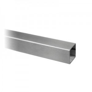 Q-Railing - Square tube, 40x40x2 mm, L=2500 mm, stainless steel 304 interior, satin