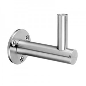 Q-Railing - Adjustable handrail bracket for wall, dist.=85mm, handrail flat, stainless steel 304 interior, satin [PK2]