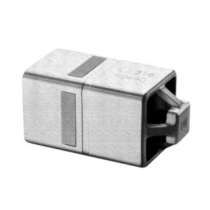 Q-Railing - Tube connector, Square Line, Easy Hit, tube 40x40x2 mm, stainless steel 316 exterior, untreated [PK2]