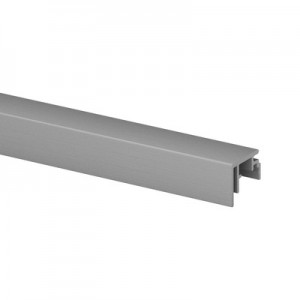 Q-Railing - Trim, Easy Glass Prime, fascia mount,3 mm, L=5000 mm, brushed aluminium, anodized